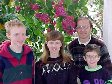 Richard, Sue, Daniel and Timothy - family photograph
