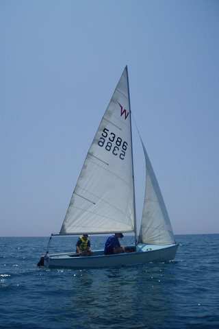 Richard's Wayfarer dinghy Galini