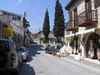 street in Lefkara on a sunny day in Cyprus