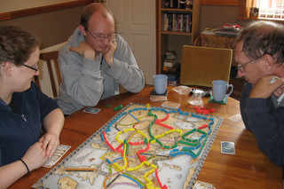 Ticket to Ride game in Carlisle