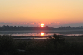 Sunrise over the Salt Lake in Larnaka