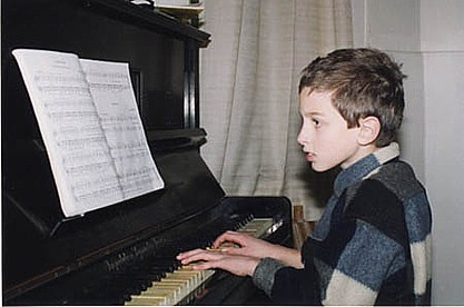 Timothy playing the piano